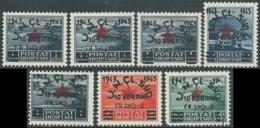 1945 ALBANIA SOPRASTAMPATI 7 VALORI MNH ** - RB37-9 - Albania