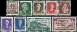 1945 ALBANIA SOPRASTAMPATI 9 VALORI DI CUI: 2 VALORI MH * E 7 VALORI MNH ** RB37 - Albania