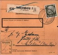 ! 1933 Paketkarte Deutsches Reich, Sachsenberg Im Vogtland Nach Mühlau - Briefe U. Dokumente