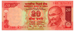 INDIA LETTER A, SIGN. JALAN 20 RUPEES ND(2002) Pick 89Ab Unc - India