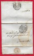 PREFILATELICA PONTIFICIO - 1823 Lettera CANINO TOSCANELLA - Timbro Postale CANINO - Timbro Sigillo POLIZIA DI CANINO - 1. ...-1850 Prephilately