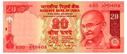 INDIA LETTER R, SIGN. JALAN 20 RUPEES ND(2002) Pick 89Ac Unc - India