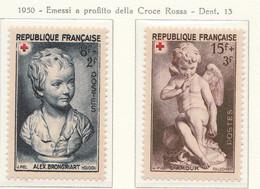 PIA - FRA - 1950 : A Profitto Della Croce Rossa  - (Yv 876-77) - Primo Soccorso