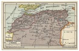 PETITE CARTE AFRIQUE DU NORD / FORMAT CARTE POSTALE / EDITION JEHEBER GENEVE / INSTITUT GEOG KUMMERLY & FREY BERNE - Mappe