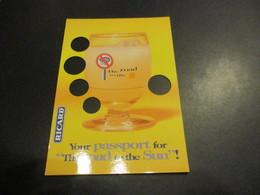 CP Pub RICARD - Your Passeport For The Road To The Sun - Publicité