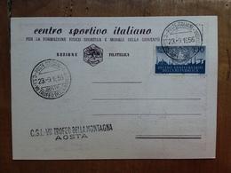 REPUBBLICA - Marcofilia - Cartolina Ufficiale Trofeo Della Montagna + Spese Postali - F.D.C.