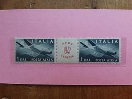 REPUBBLICA - Curiosità - Raduno Filatelico Veneto 1947 - Coppia Nuovi ** + Spese Postali - Variedades Y Curiosidades