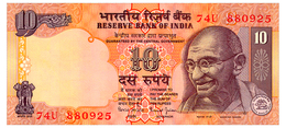 INDIA S, SIGN. JALAN 10 RUPEES ND(1996) Pick 89m Unc - India