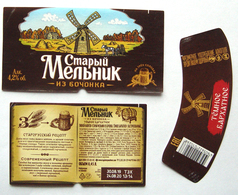 Stariy Melnik Old Miller Beer Label Russia - Bier