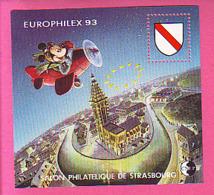 BLOC CNEP N° 17 ** NEUF LUXE SALON PHILATELIQUE STRASBOURG 1993 EUROPHILEX MICKEY - CNEP