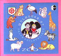 BLOC CNEP N° 24 ** NEUF LUXE SALON PHILATELIQUE MULHOUSE 1997 ANIMAUX COSTUMES ALSACIEN - CNEP