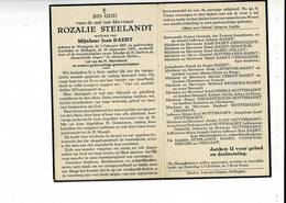 DP 9430 - ROZALIE STEELANDT - BAERT - WAREGEM 1867 + BELLEGEM 1951 - Images Religieuses