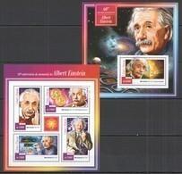 ST1458 2015 S. TOME E PRINCIPE 60TH ANNIVERSARY OF MEMORY EINSTEIN  KB+BL MNH - Albert Einstein