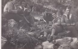 PHOTO ORIGINALE 39 / 45 WW2 MARINE FRANCAISE 1942 TOULON MARINS FRANCAIS EN BALLADE - Guerre, Militaire