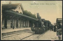 Ligny-en-Barrois - La Gare - Arrivée D'un Train - Manfay édit. - Voir 2 Scans (Mauvais état) - Ligny En Barrois
