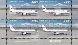 Armenia Arménie Armenien 2019 BLOCK Mi 1140 Means Of Transport. Airplane Mount Ararat MNH** - Armenia