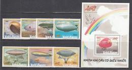 Vietnam 1990 - Zeppelins, Mi-Nr. 2241/47_Bl. 84, Dent., MNH** - Vietnam