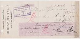 Chatelet, Chèque De 1919. Charleroi. - Chèques & Chèques De Voyage