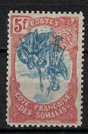 COTE DES SOMALIS      N°  YVERT  :   52 Centre Renversé  NEUF AVEC  CHARNIERES      (  CH  02/45 ) - Unused Stamps