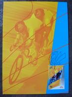 SYDNEY 2000 AUSTRALIA MAXIMUM CARD FDC CYCLING PARALYMPIC GAMES - Handisport