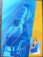 SYDNEY 2000 AUSTRALIA MAXIMUM CARD FDC BASKET BALL PARALYMPIC GAMES - Sport Voor Mindervaliden