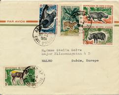 COTE D'IVOIRE - ABIDJAN - 1964 , Brief Nach Malmö - Côte D'Ivoire (1960-...)
