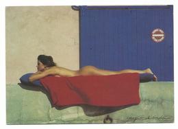 NU PHOTO SIGNE LARRY DALE GORDON   - CARTE ECRITE - Voir Detail Annonce - Nudi Adulti (< 1960)