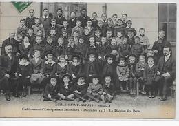 Melun-Ecole Saint-Aspais-Etablissement D'Enseignement Secondaire-Décembre 1913-La Division Des Petits - Melun