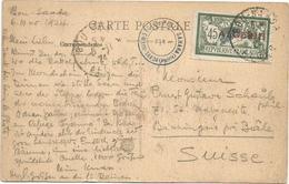 MERSON ALGERIE 45C SEUL CARTE BOU SAADA 8.11.1924 POUR SUISSE AU TARIF - 1900-29 Blanc