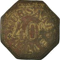 Monnaie, France, Kursaal, Lille, 40 Centimes, TTB, Laiton, Elie:105.2 - Noodgeld