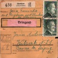 ! 1943 Paketkarte Deutsches Reich, Slawkow, Schlesien. Oberschlesien - Allemagne