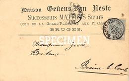 Maison Geuens Van Neste - Successeurs Matthys Soeurs - Bruges - Brugge - Brugge