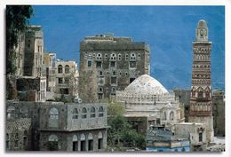 1 AK Jemen Yemen * Ansicht Der Stadt Jibla - Auch Dschibla Genannt - Rechts Im Bild Die Arwā-bint-Aḥmad-Moschee * - Yémen