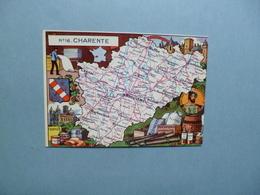 Carte Département  De La CHARENTE  -  16    -  Illustration PINCHON  - Carte Géographique  - - Otros Municipios