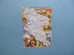 Carte Département  De La CHARENTE MARITIME  -  17   -  Illustration PINCHON  - Carte Géographique  - - France