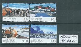 AUSTRALISCHES ANTARKTIS TERRITORIUM MICHEL SATZ 157 - 160 Postfrisch Siehe Scan - Australisches Antarktis-Territorium (AAT)
