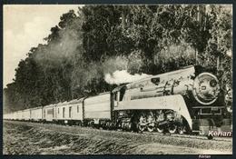 """Locomotives Des Etats-Unis D'Amérique - Southern Pacific Train """"Le Lark"""" Remorqué Par Une 4-8-4 (ou 242) Edit. H. M. P. - Trains"""