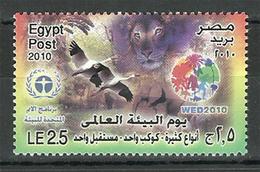 Egypt - 2010 - ( UN - World Environment Day - Animals, Birds ) - MNH** - Environment & Climate Protection