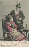 Couple Amoureux Envoi De Moselle Algrange Algringen Vers La Rodde 63 1902 - Mujeres