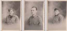 3 Photographies Originaux De 1945 Soldats Américains - War, Military