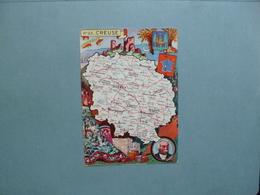 Carte Département  De La CREUSE  -  23   -  Illustration PINCHON  - Carte Géographique  - - Autres Communes