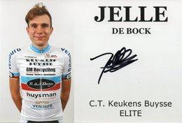 Cyclisme, Jelle De Block - Wielrennen