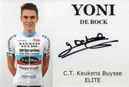 Cyclisme, Yoni De Block - Wielrennen