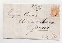 Commune De Paris Lettre Avec Correspondance De LAON  12 Mai 1871 Entrée Dans PARIS Par Passeur 17 Mai 1871 - 1870 Siège De Paris