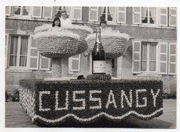 CUSSANGY   -- Char De Défilé   ( Petite Animation , Thème  Champagne )---Photo  Format  15 X 10 - Autres Communes