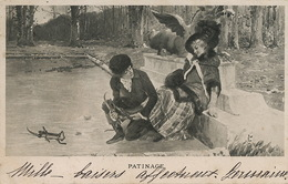 Patinage  Couple Amoureux  Vers Larodde 1901 - Patinaje Artístico