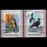 MONTSERRAT 1976 - Scott# O3-4 Birds 30-45c Used - Montserrat