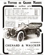 "PUB VEHICULES "" CHENARD & WALKER "" 1912 ( 8 ) - KFZ"