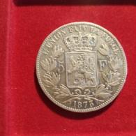 Belgio 5 Franchi 1873 - 1865-1909: Leopold II