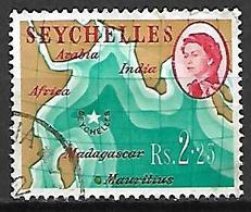 SEYCHELLES    -    1962 / 68  .  Queen  E II   /   Carte De L' île - Seychelles (...-1976)